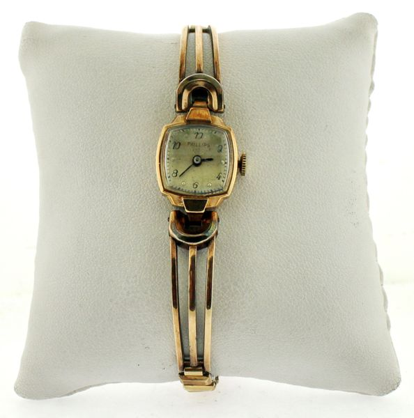 Phillips Jacoby Bender Gold Plated Womens Watch