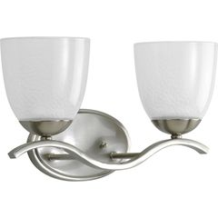 Progress Lighting Lakeshore 2 Light Bath Vanity in Brushed Nickel P2711-09