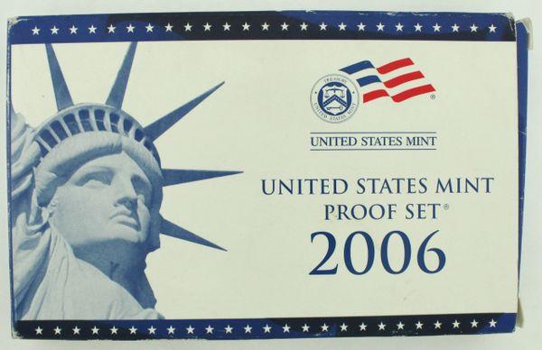 2006-S Proof Set Original Box & COA 10 Coins CN-Clad US Mint