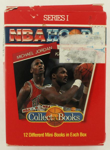1990 NBA HOOPS COLLECT-A-BOOK Series1 (12) CARD SET