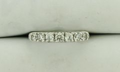 14K White Gold 0.70 Carat Diamond Anniversary Band