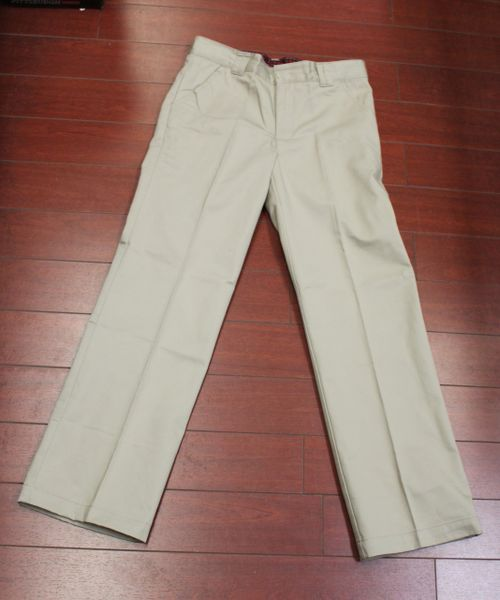 George Girls School Uniform Boot Leg Pants Khaki Size 10