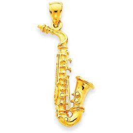 3-D Saxophone Charm (JC-680)