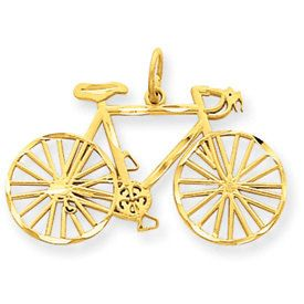 Diamond-Cut Bicycle Pendant (JC-683)