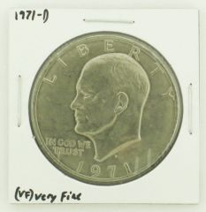 1971-D Eisenhower Dollar RATING: (VF) Very Fine N2-2511-12