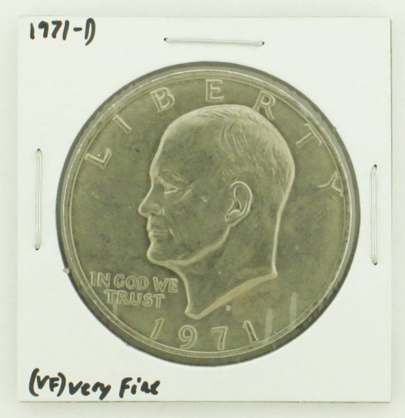 1971-D Eisenhower Dollar RATING: (VF) Very Fine N2-2511-12