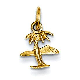 Island & Palm Tree Charm (JC-735)