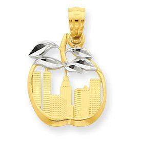 Cut Out New York Skyline in Apple Pendant (JC-750)