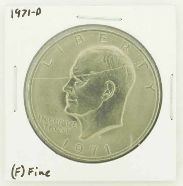 1971-D Eisenhower Dollar RATING: (F) Fine N2-2512-7