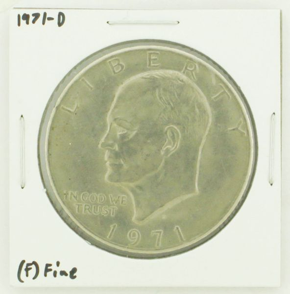 1971-D Eisenhower Dollar RATING: (F) Fine N2-2512-9
