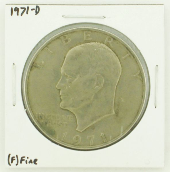 1971-D Eisenhower Dollar RATING: (F) Fine N2-2512-15