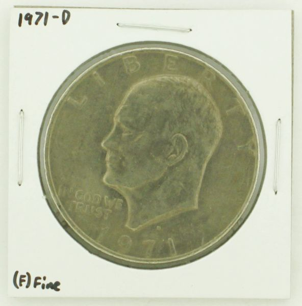 1971-D Eisenhower Dollar RATING: (F) Fine N2-2512-16