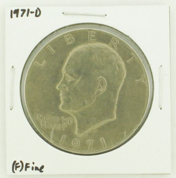 1971-D Eisenhower Dollar RATING: (F) Fine N2-2512-17