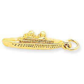 Polished 3-D Cruise Ship Charm (JC-755)