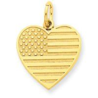 USA Flag Heart Charm (JC-757)