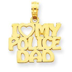 I Love My Police Dad Charm (JC-765)