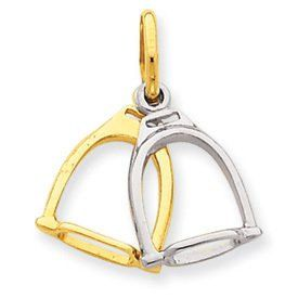 Two Tone Stirrups Charm (JC-791)