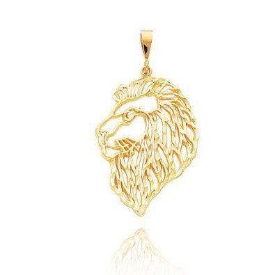 Filigree Lions Head Pendant (JC-843)