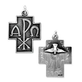 Alpha Omega Cross Pendant (JC-884)
