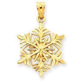 Diamond Cut Snowflake Pendant (JC-896)