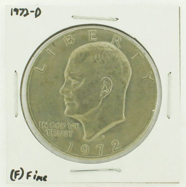 1972-D Eisenhower Dollar RATING: (F) Fine N2-2961-09