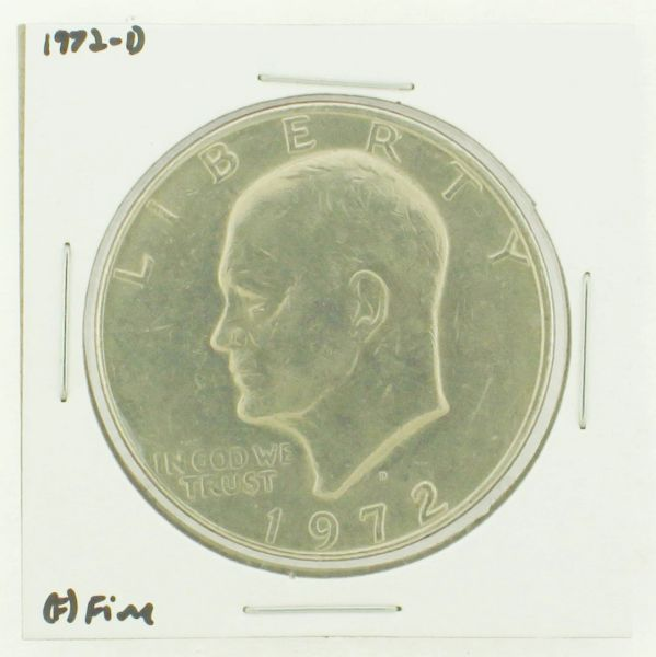 1972-D Eisenhower Dollar RATING: (F) Fine N2-2961-24