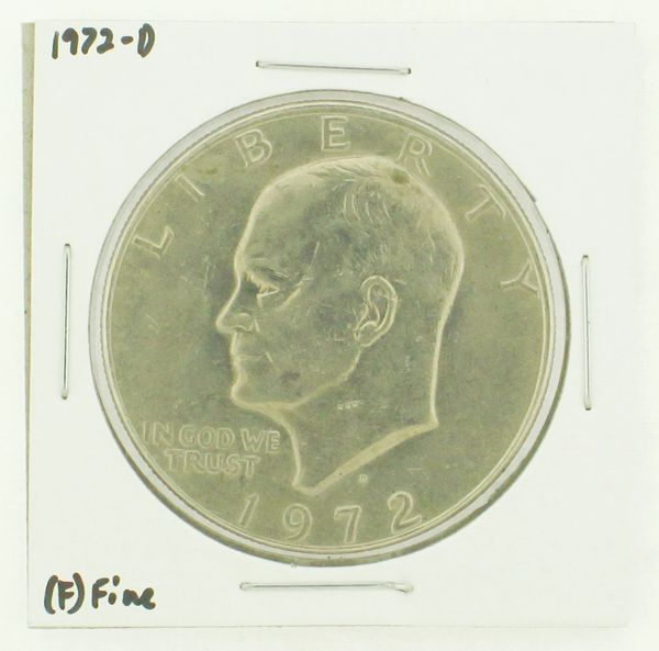 1972-D Eisenhower Dollar RATING: (F) Fine N2-2961-30