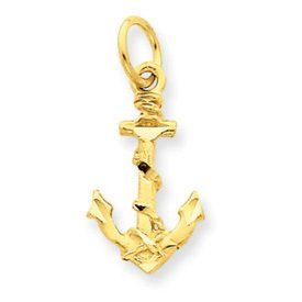 Diamond Cut Rope and Anchor Charm (JC-1025)
