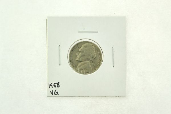 1958 Jefferson Nickel (VG) Very Good N2-3317-1