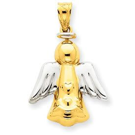 Rhodium Angel Pendant (JC-032)