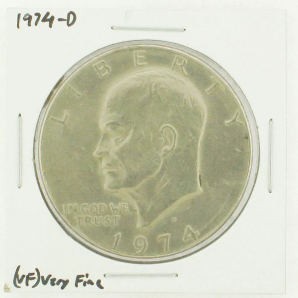 1974-D Eisenhower Dollar RATING: (VF) Very Fine N2-3468-01