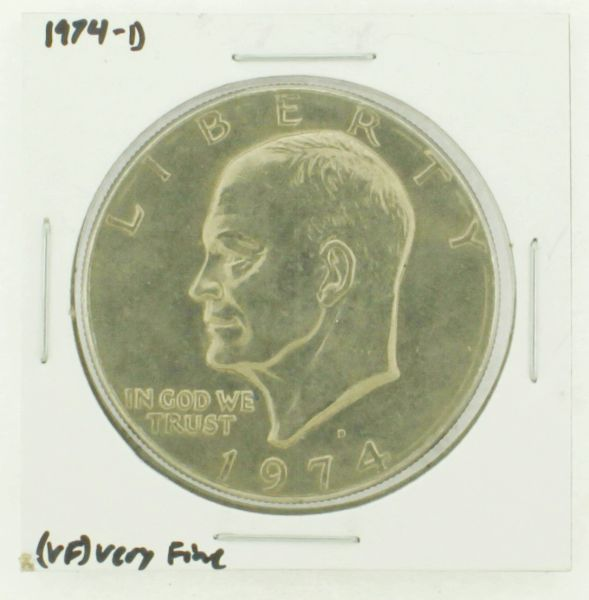1974-D Eisenhower Dollar RATING: (VF) Very Fine N2-3468-22