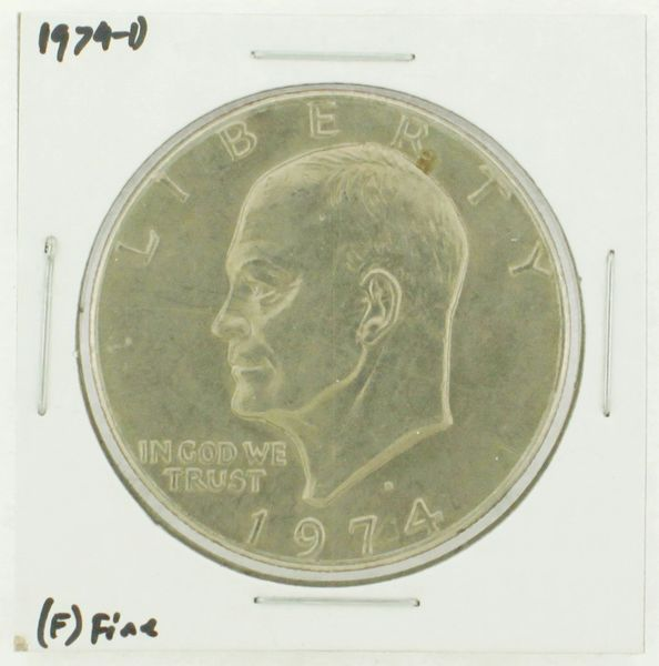 1974-D Eisenhower Dollar RATING: (F) Fine N2-3643-03