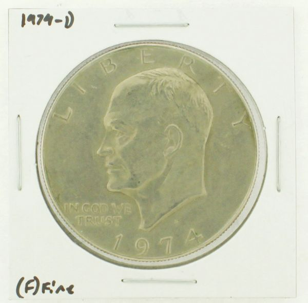 1974-D Eisenhower Dollar RATING: (F) Fine N2-3643-09