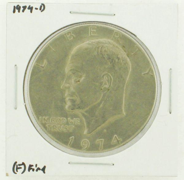 1974-D Eisenhower Dollar RATING: (F) Fine N2-3643-10