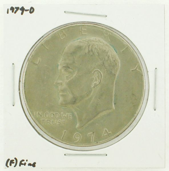 1974-D Eisenhower Dollar RATING: (F) Fine N2-3643-12