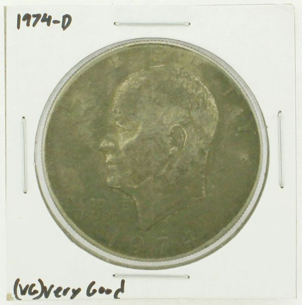 1974-D Eisenhower Dollar RATING: (VG) Very Good N2-3744-01