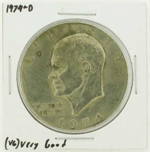 1974-D Eisenhower Dollar RATING: (VG) Very Good N2-3744-02