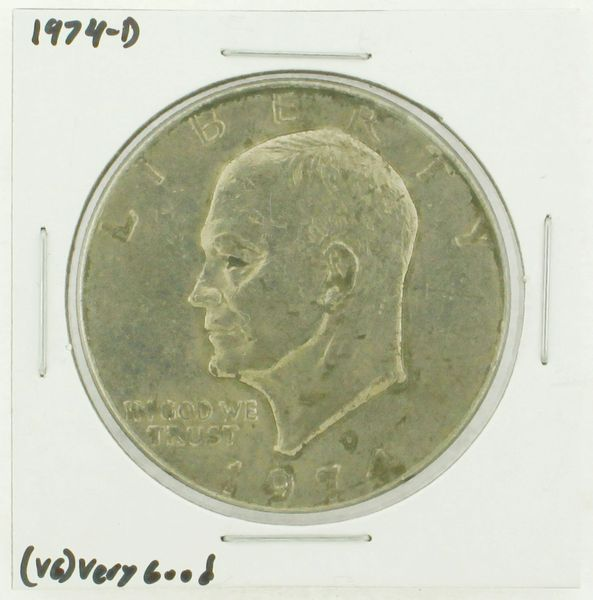 1974-D Eisenhower Dollar RATING: (VG) Very Good N2-3744-04