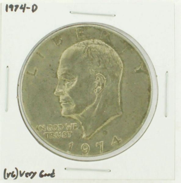 1974-D Eisenhower Dollar RATING: (VG) Very Good N2-3744-05