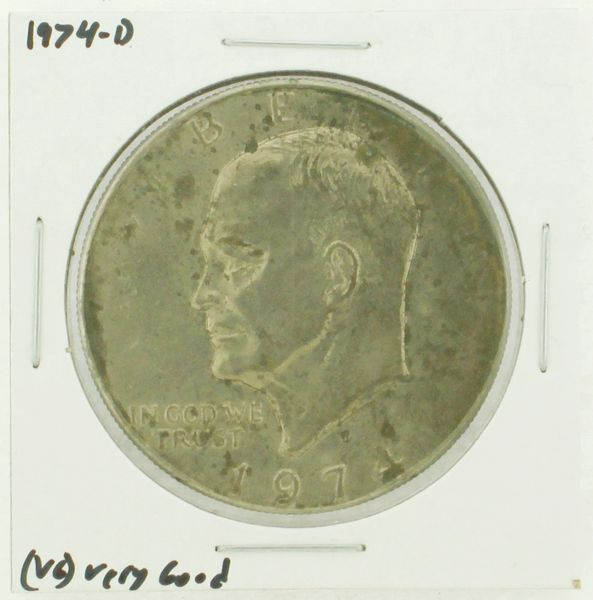 1974-D Eisenhower Dollar RATING: (VG) Very Good N2-3744-07