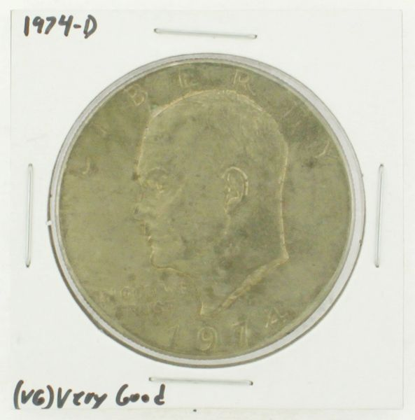 1974-D Eisenhower Dollar RATING: (VG) Very Good N2-3744-10