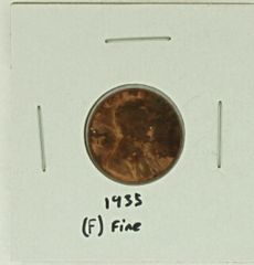 1935 United States Lincoln Wheat Penny Rating (F) Fine