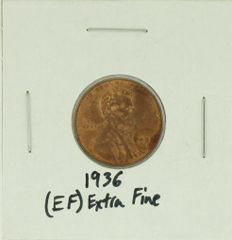1936 United States Lincoln Wheat Penny Rating (XF) Extremely Fine