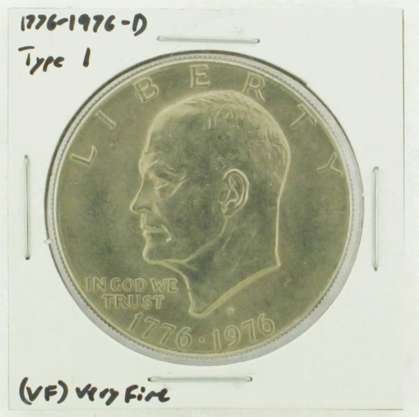 1976-D Type I Eisenhower Dollar RATING: (VF) Very Fine (N2-3934-05)