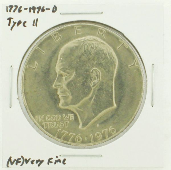 1976-D Type II Eisenhower Dollar RATING: (VF) Very Fine (N2-3950-09)