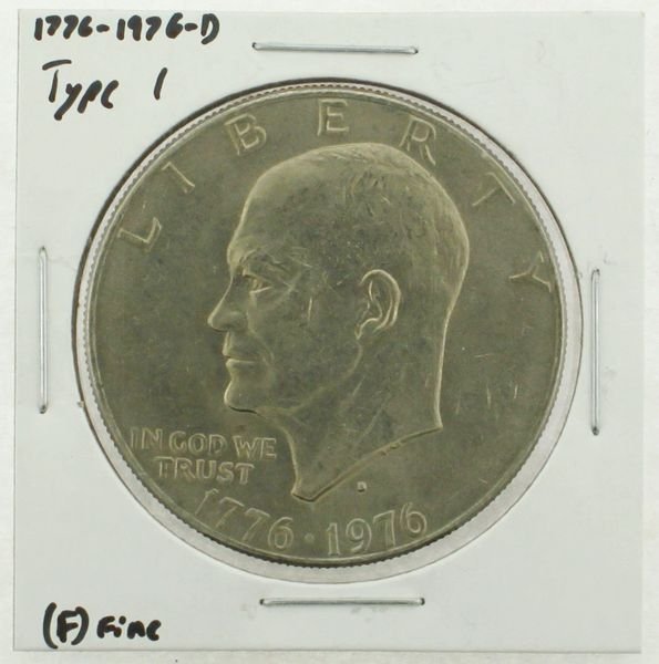 1976-D Type I Eisenhower Dollar RATING: (F) Fine (N2-4044-04)