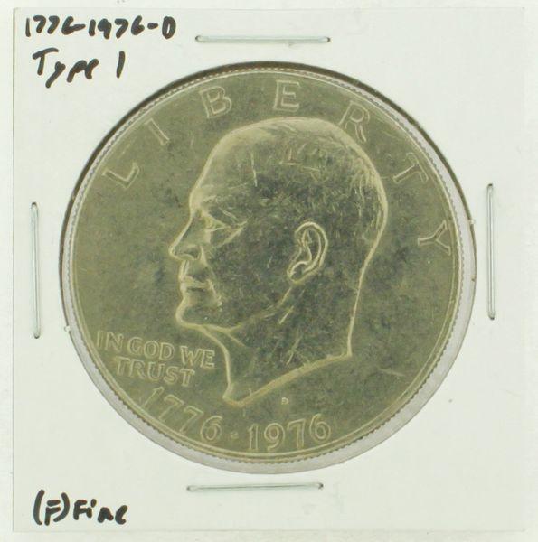 1976-D Type I Eisenhower Dollar RATING: (F) Fine (N2-4044-12)