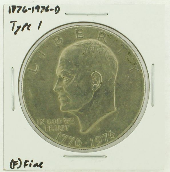 1976-D Type I Eisenhower Dollar RATING: (F) Fine (N2-4044-14)