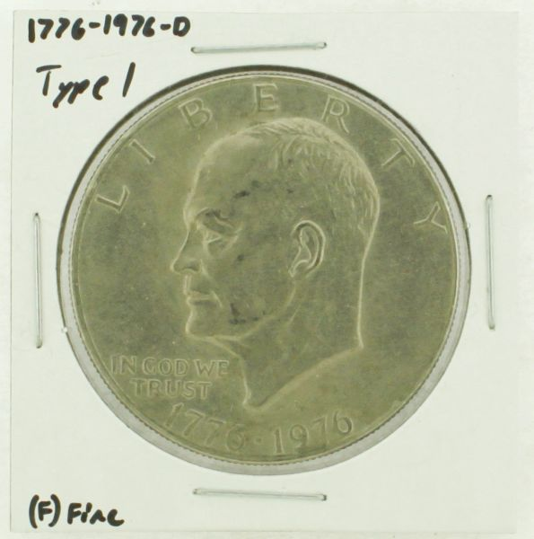 1976-D Type I Eisenhower Dollar RATING: (F) Fine (N2-4044-15)